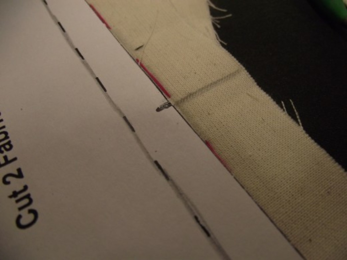 Extend the notch lines to the edge of the seam allowance- these will be used later