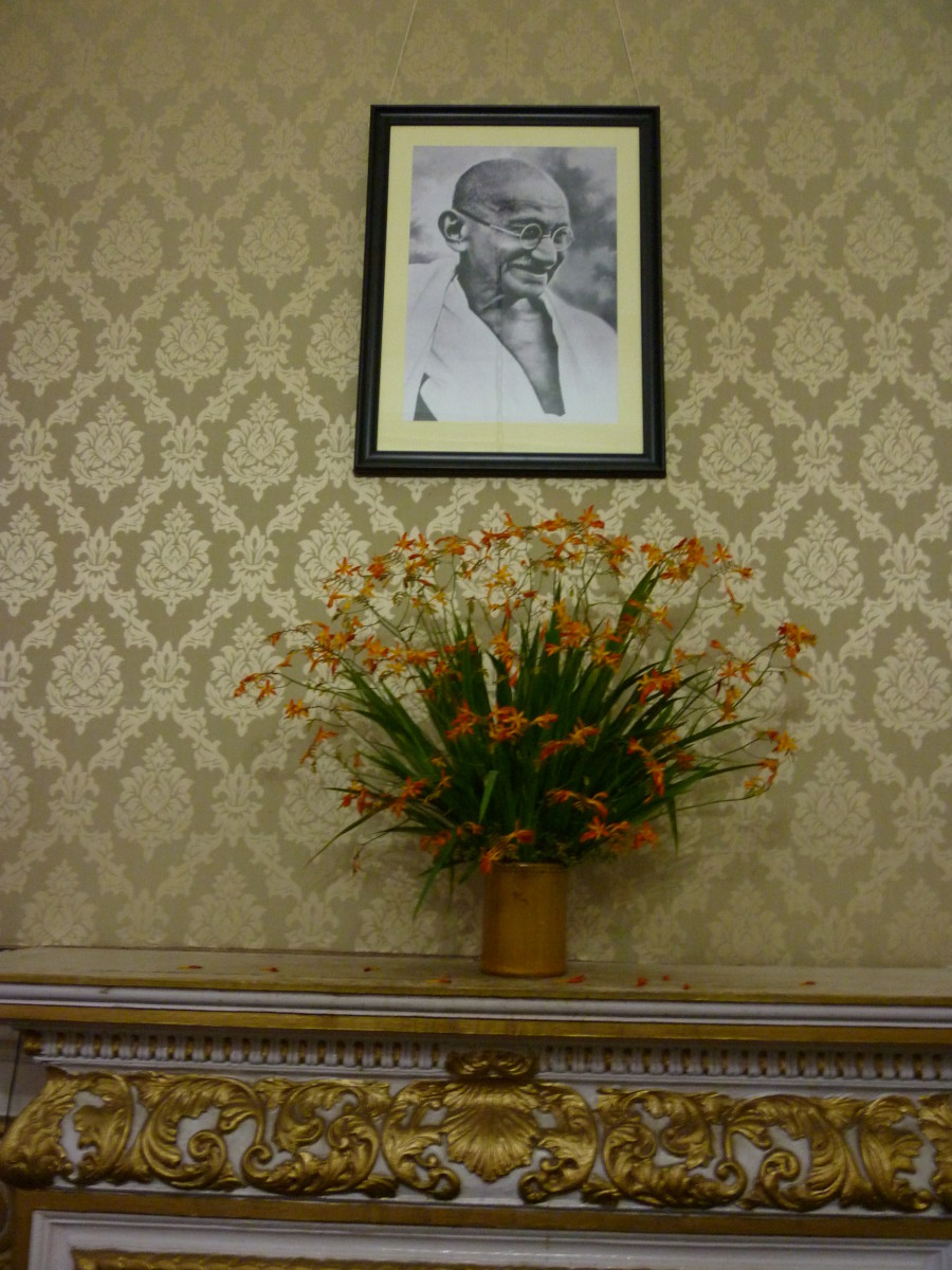 Original Wall Paper (mounted picture of Mahatma Gandhi on the wall)