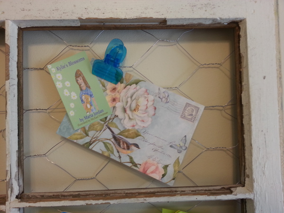 This section of the message / picture board holds a special card from a special HP friend.
