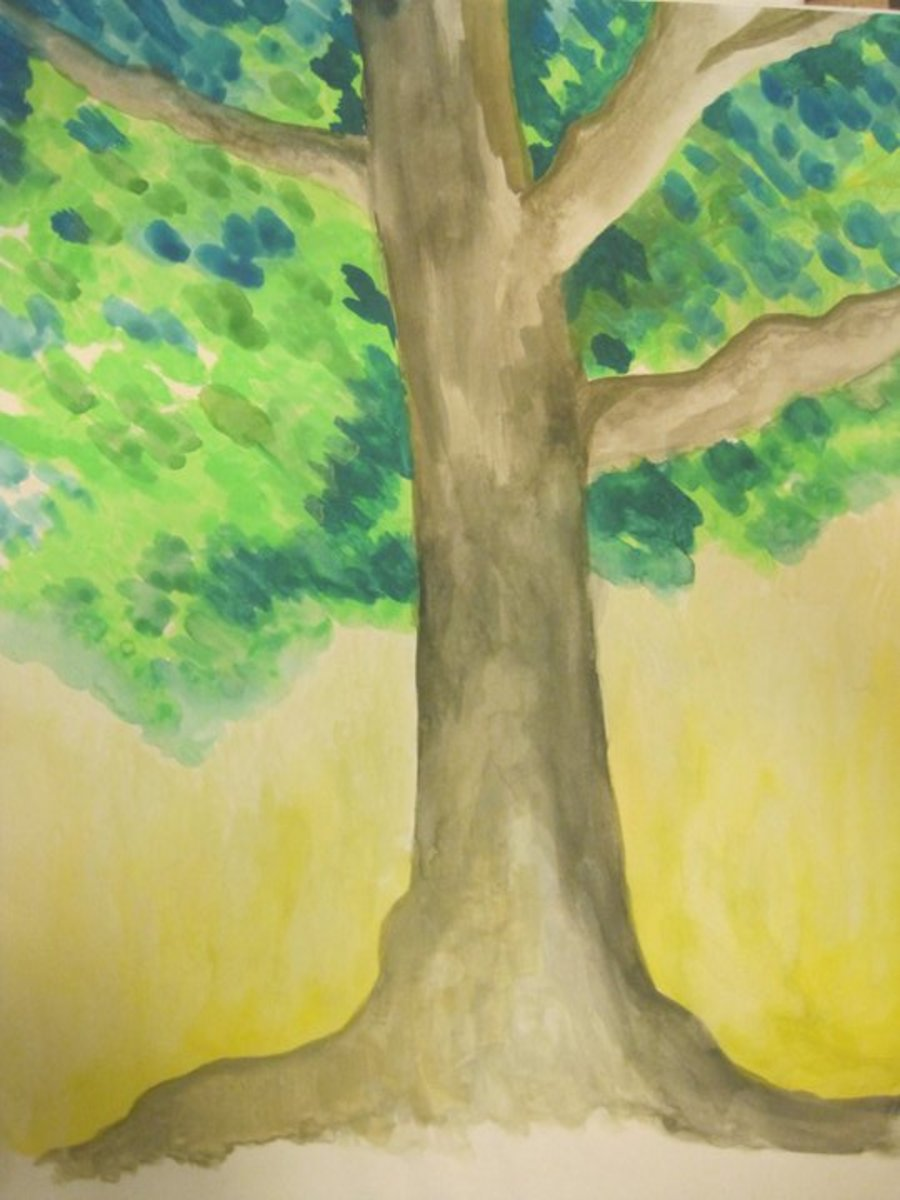 quick watercolor painting I did of a tree... circa 2009 or 2010