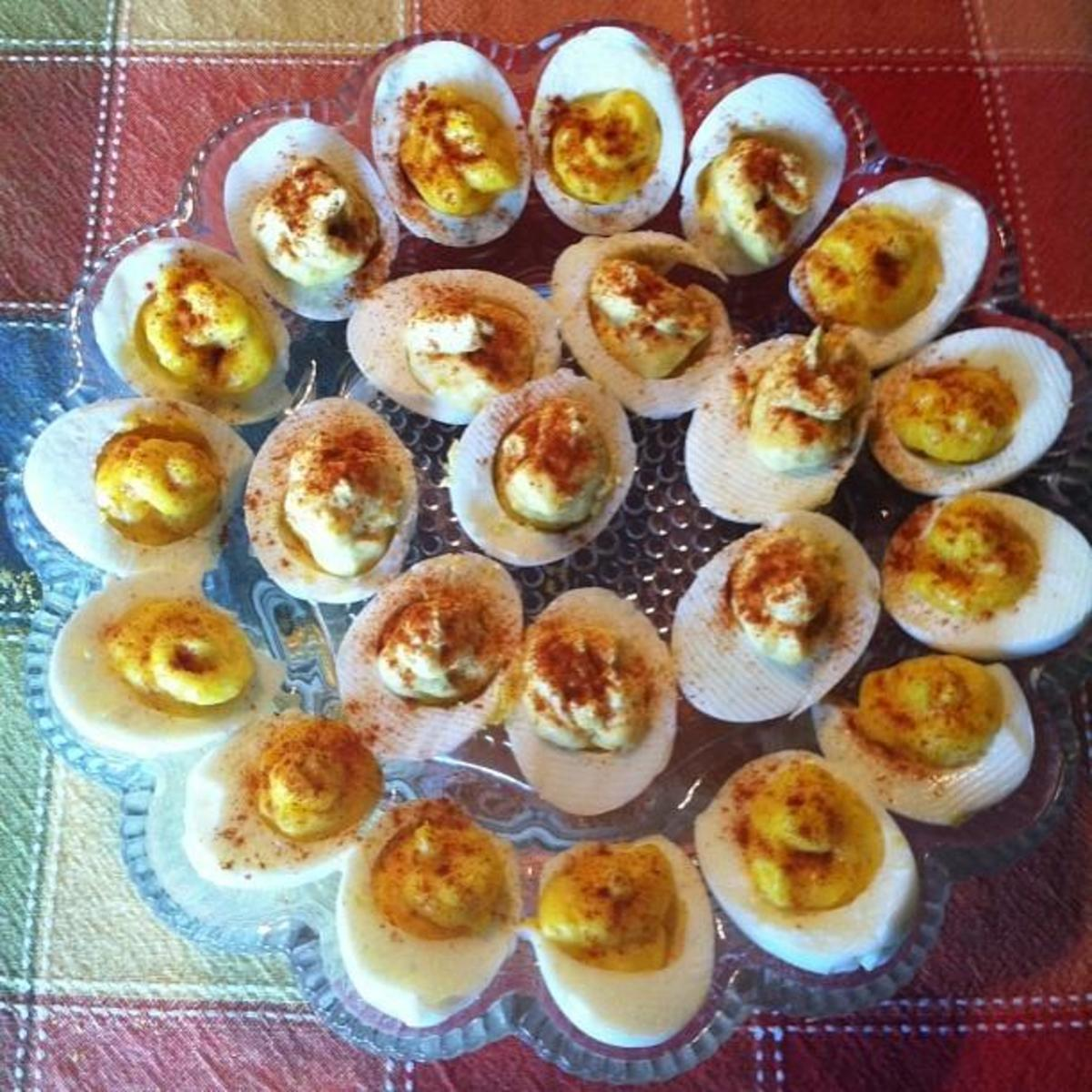 deviled eggs I made for Thanksgiving 2013