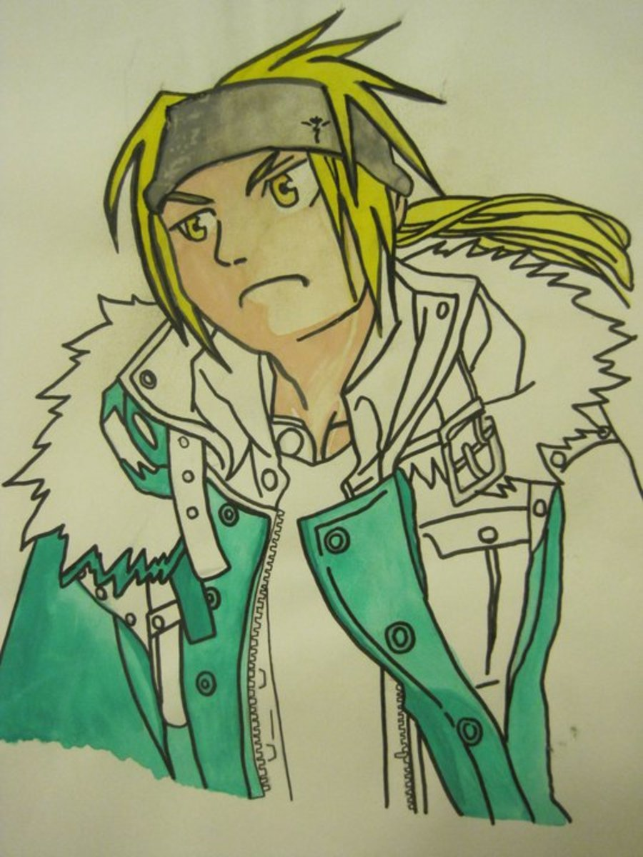 full metal alchemist drawing by me.. circa 2009