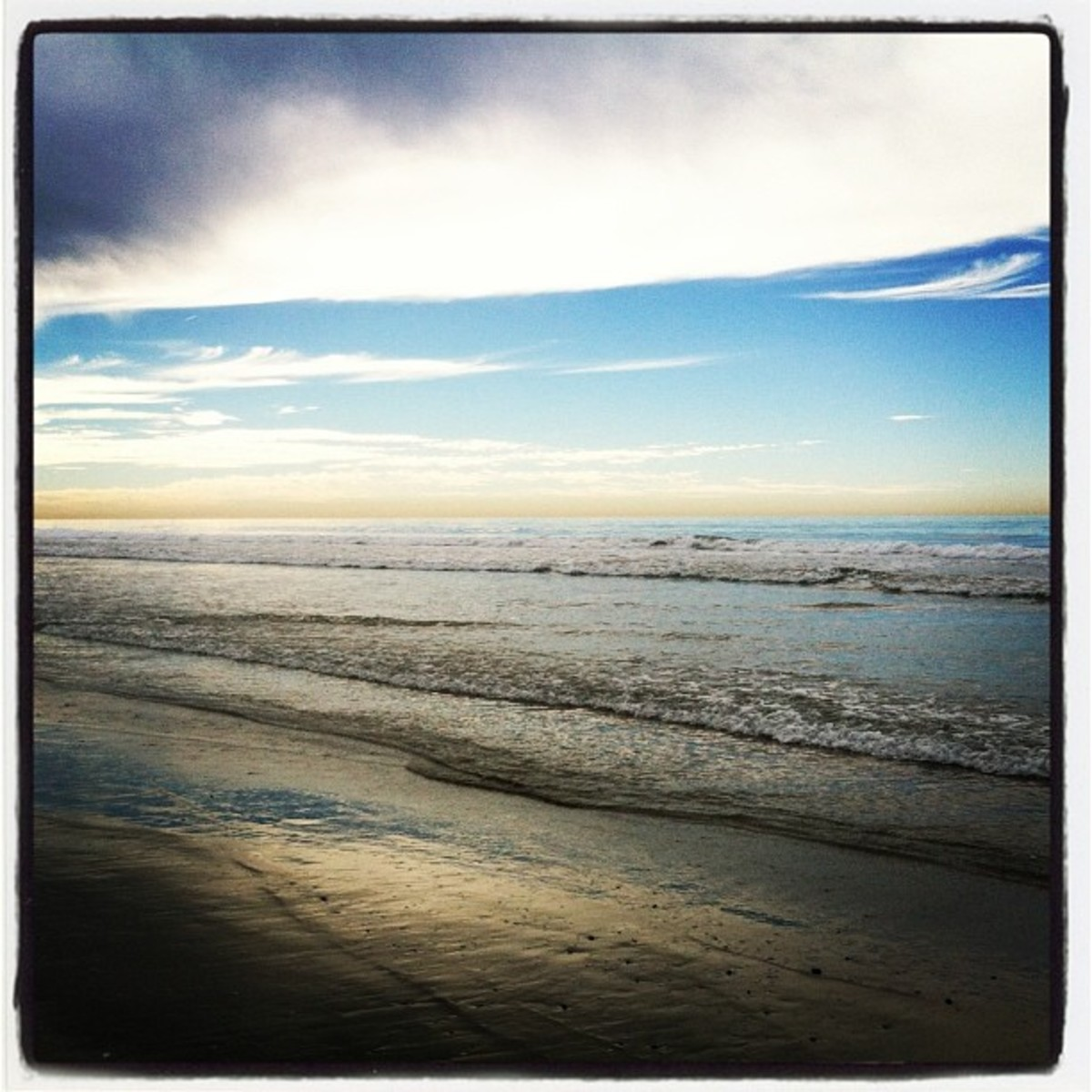 photo I took with Instagram at the beach in 2013