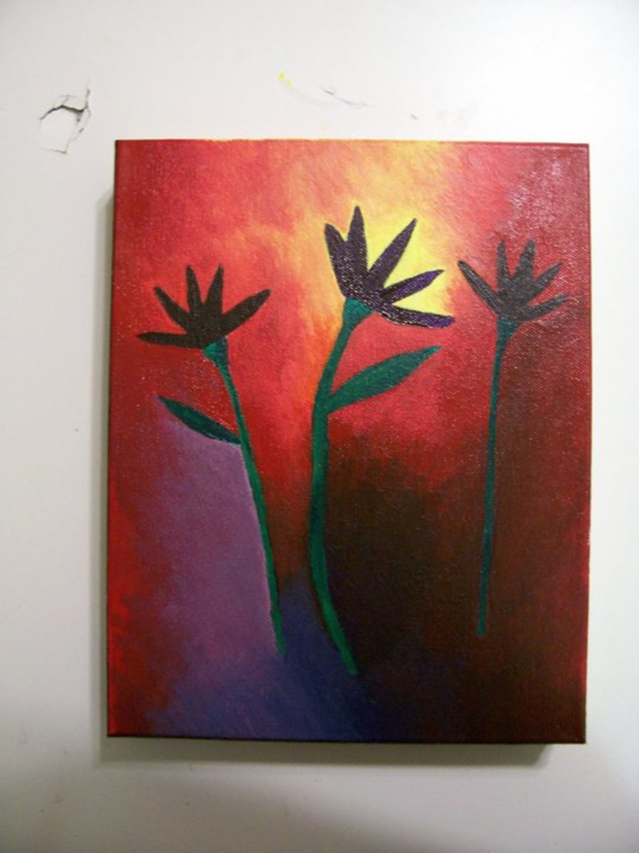 (somewhat) abstract flower painting that I did in 2009 or 2010