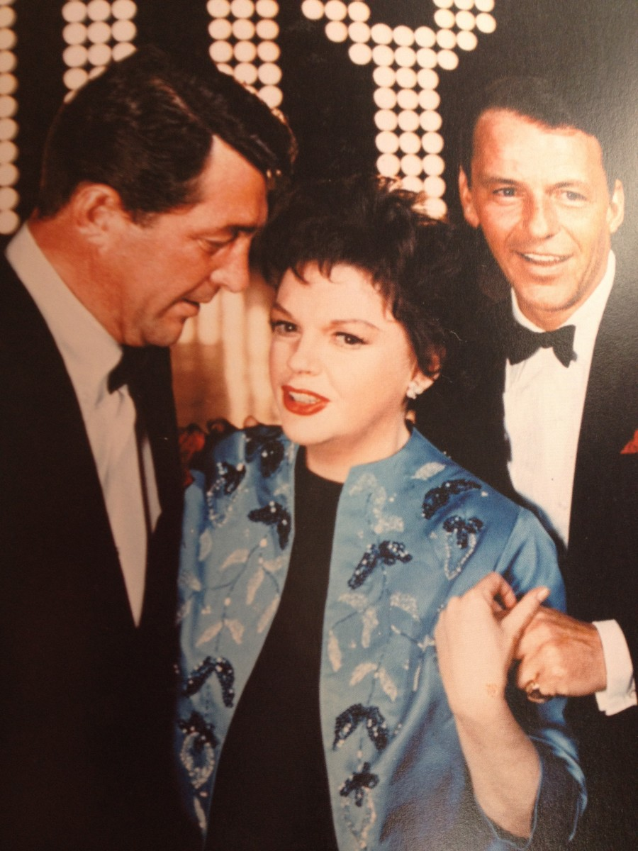 Judy Garland with Dean Martin and Frank Sinatra