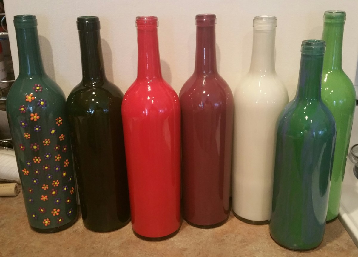 Decorative Wine Bottles Diy Amazing Diy Painted Wine Bottles How To Paint Wine Bottles In 5 Minutes Design Ideas