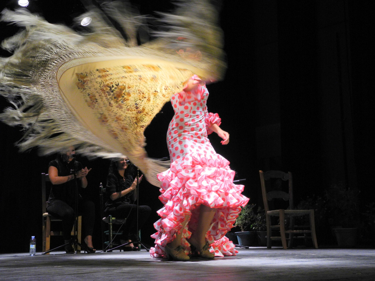 This dress is NOT an example of Flamencista's craftmanship. Look at the pictures below for Flamencista's flamenco clothes.