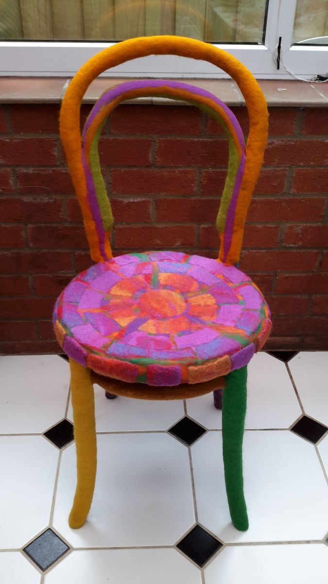 Creative Wet Felting, a Wet Felted Bentwood Chair