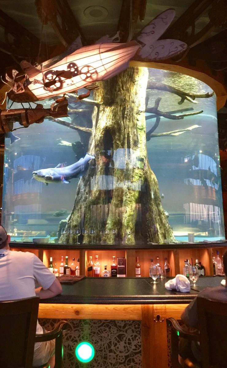 The Lookout Bar aquarium