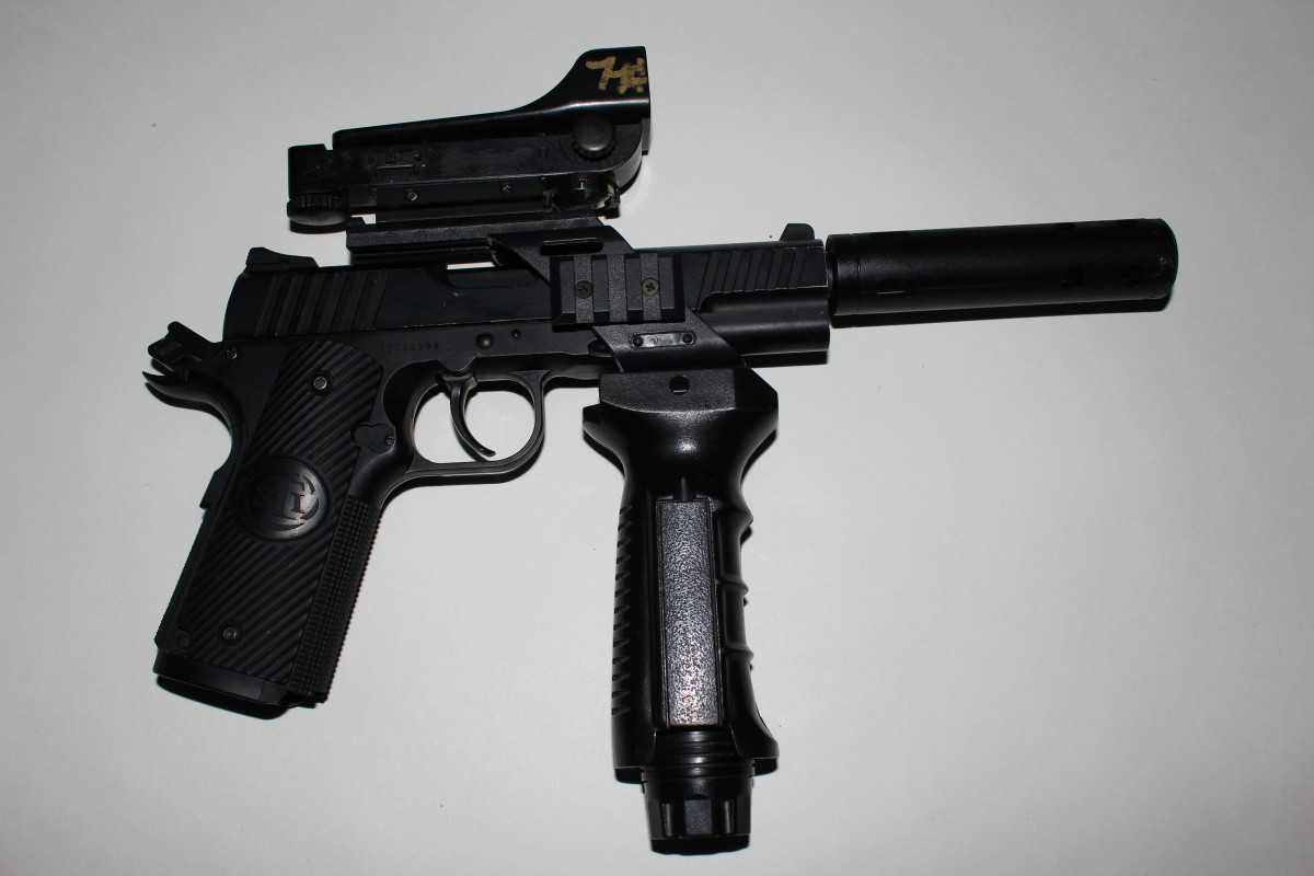 Heavily modified Airsoft pistol