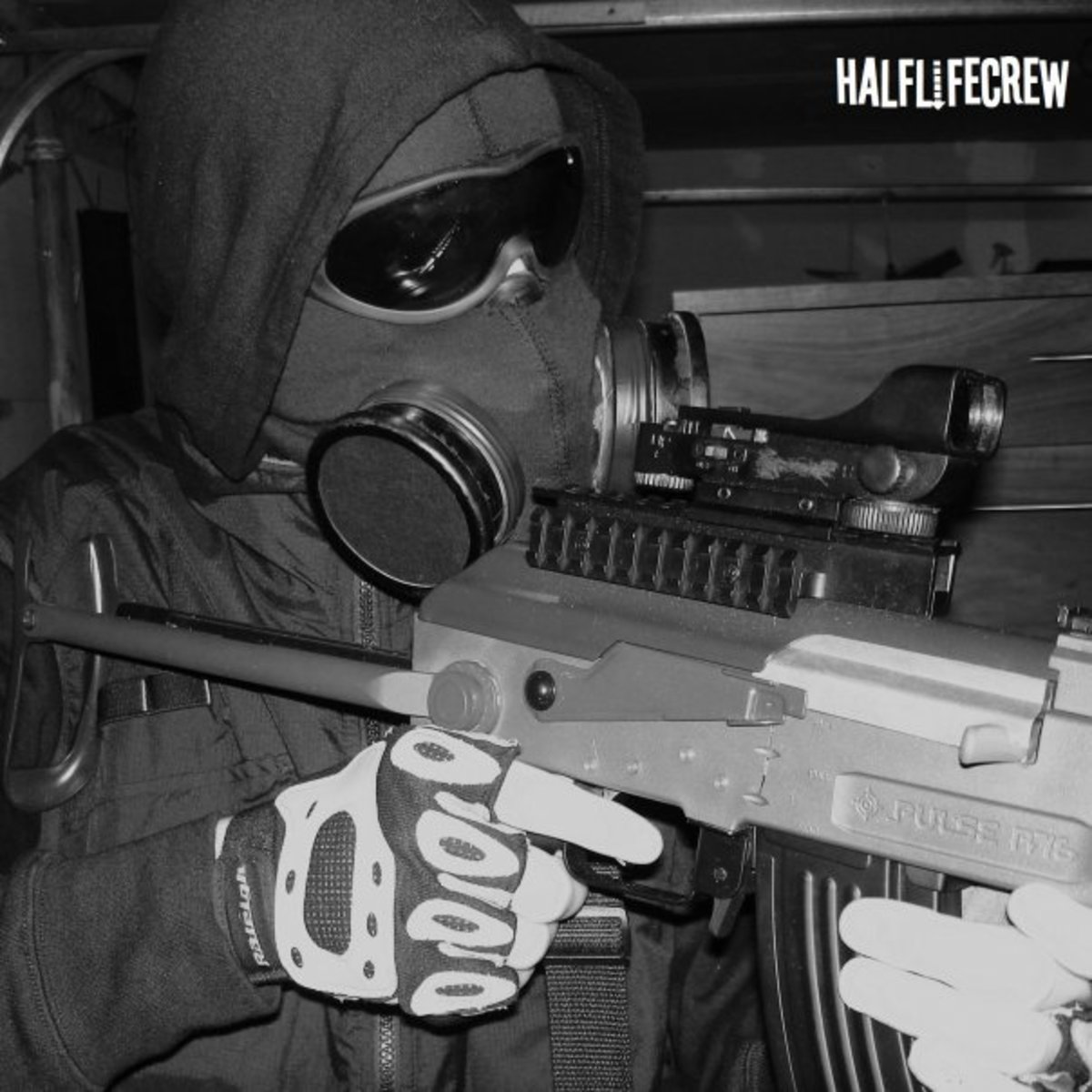 An HLC Airsoft player