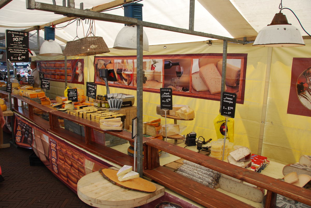 Cheese stall in Leiden...