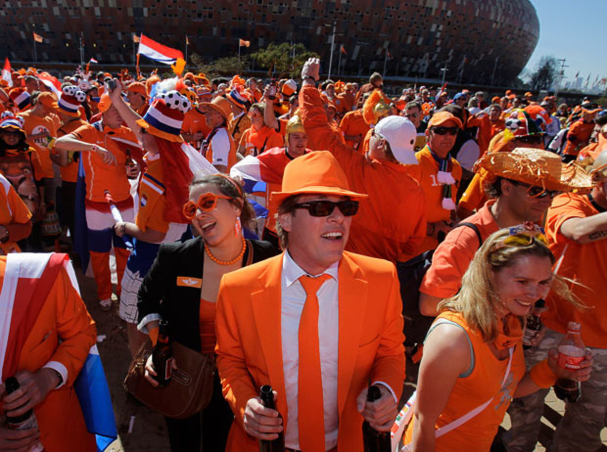 Orange is the Netherlands' national color...