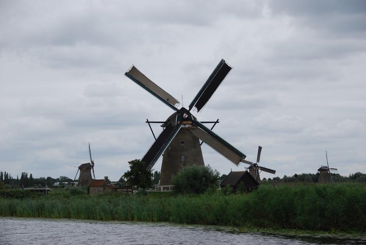 Windmills in Kinderdijk...