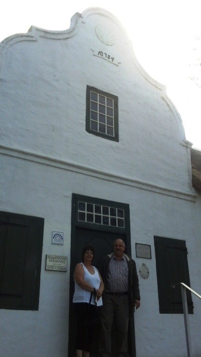Me and Johann Claassen,  researcher, genealogist and archivist of Drakenstein Heemkring Archive