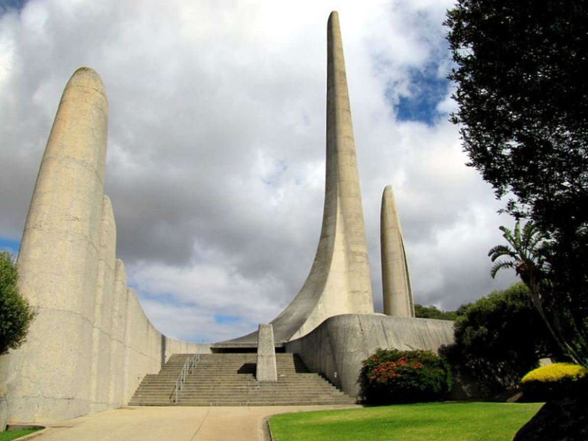 The Afrikaans Language Monument at Paarl, Western Cape, South Africa