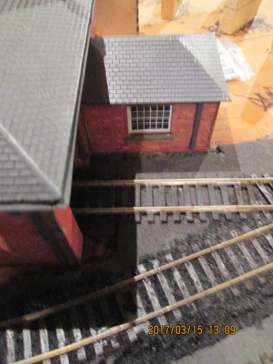 The goods office and doorway where a Pooley goods wagon/van weighbridge should be added in due course