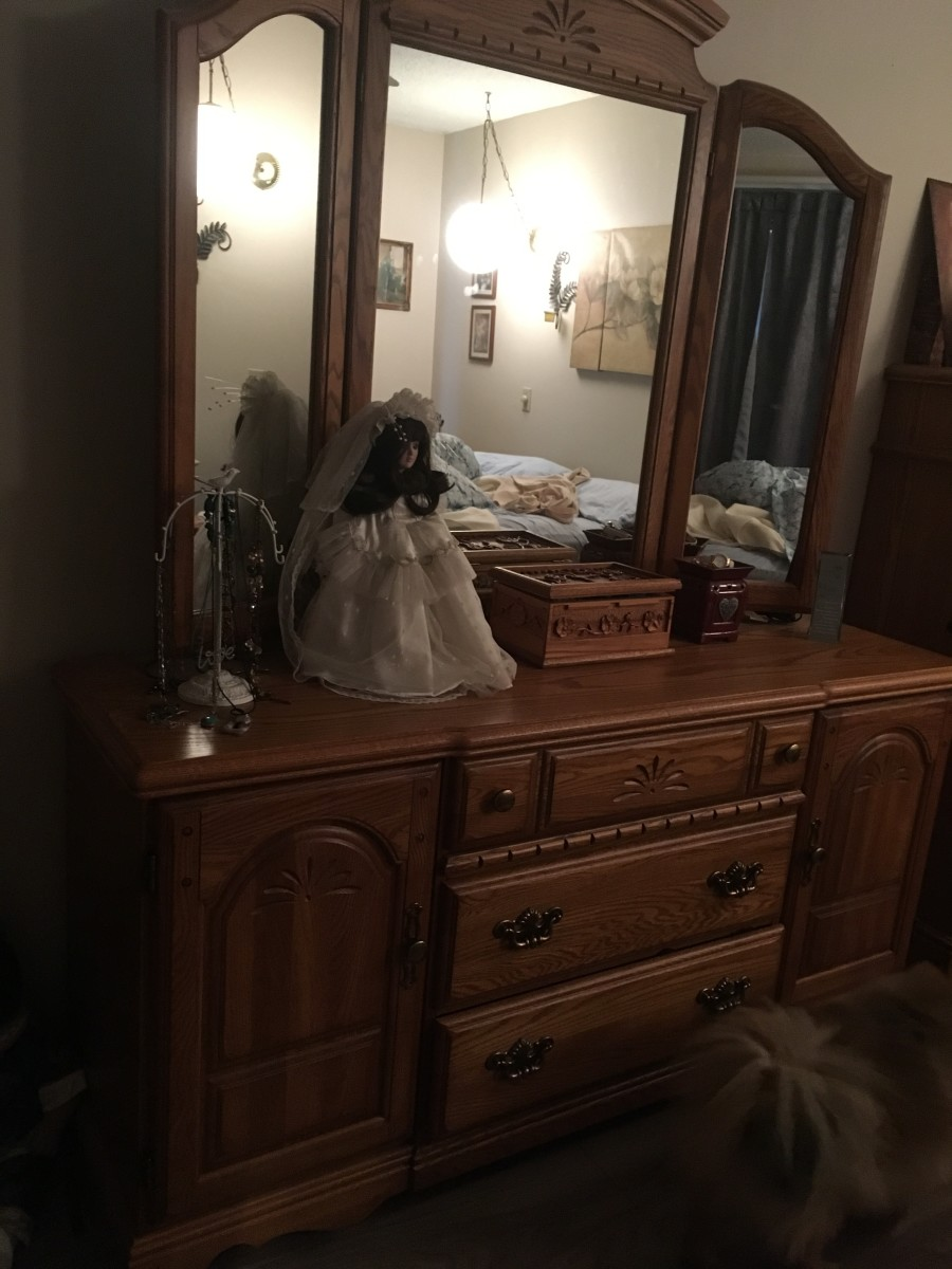 Bedroom Surfaces are clean and Items I am keeping are put back.