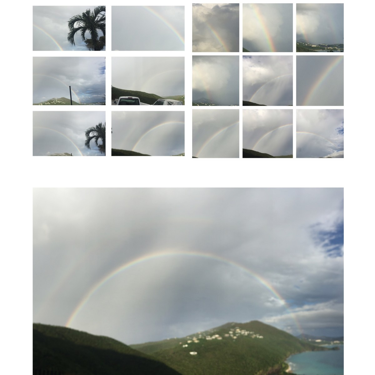 Captured this phenomenal view on November 17th, 2017@ 4:38pm USVI St. Thomas. Rainbow fanatics.....rrrr