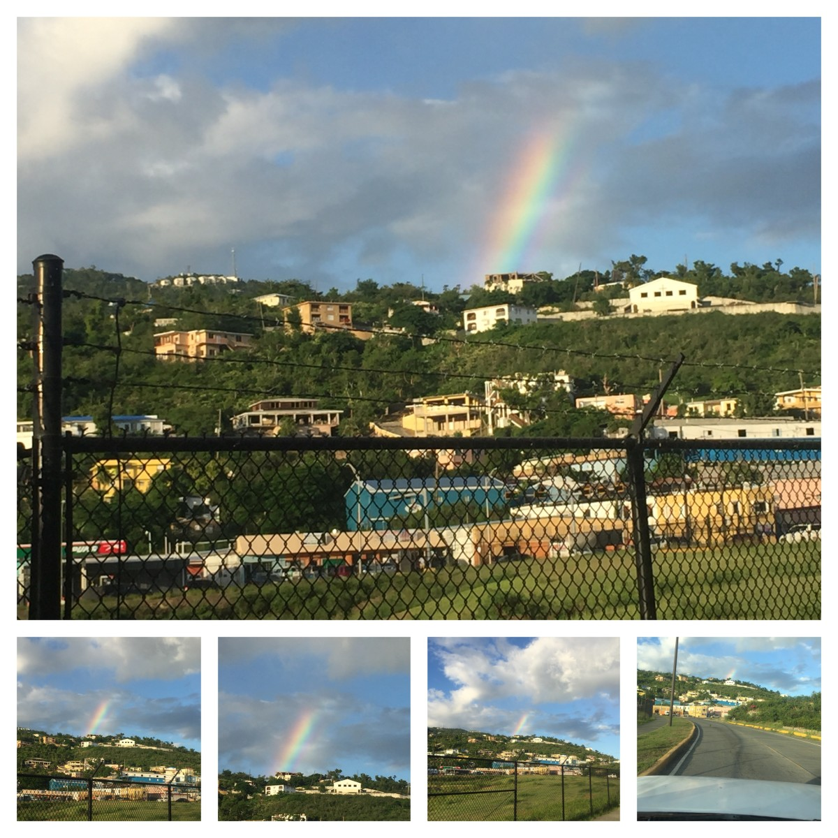 September 23, 3018 @5:34pm. Captured Rainbow by the airport road. Over crown mountain.