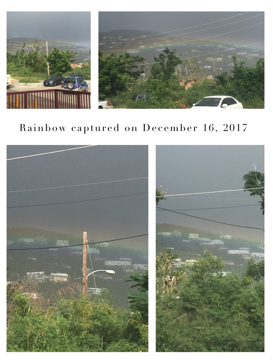 Saturday @ 3:05pm captured a rainbow outside West Bay Grocery store, St. Thomas USVI.