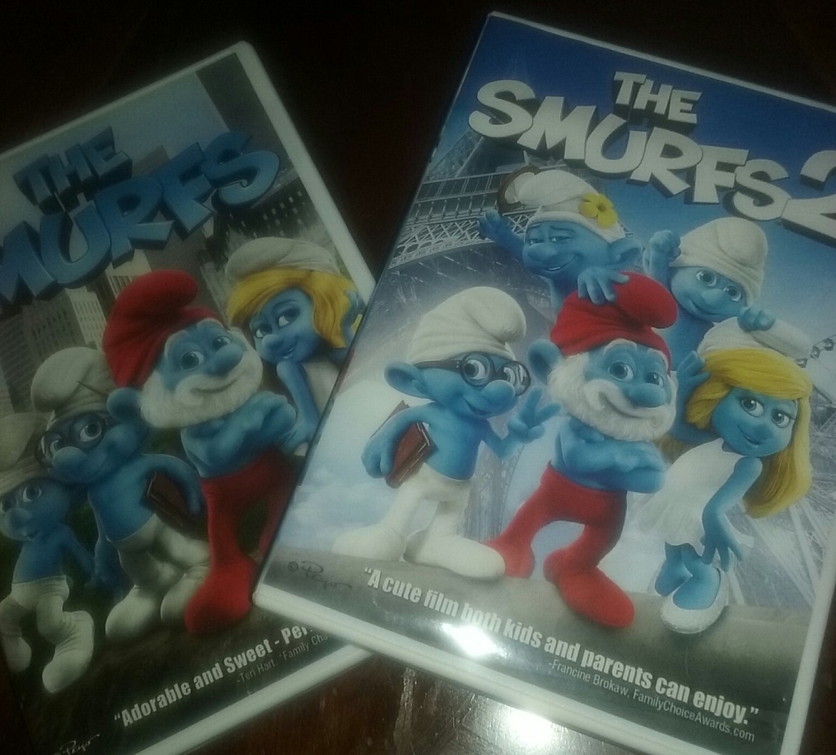The movies, The Smurfs and The Smurfs 2