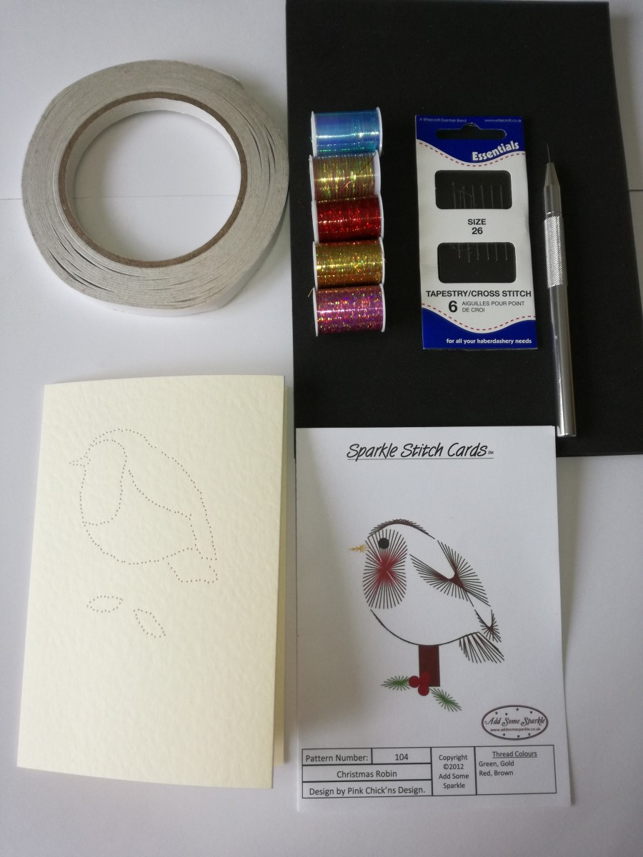 Tools required to get started with paper embroidery