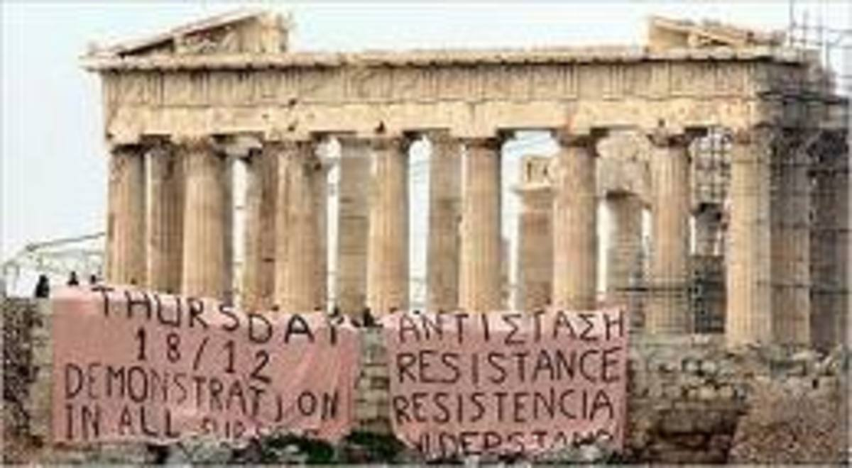Recent austerity measures in Greece have brought the communist organizers out into the open.