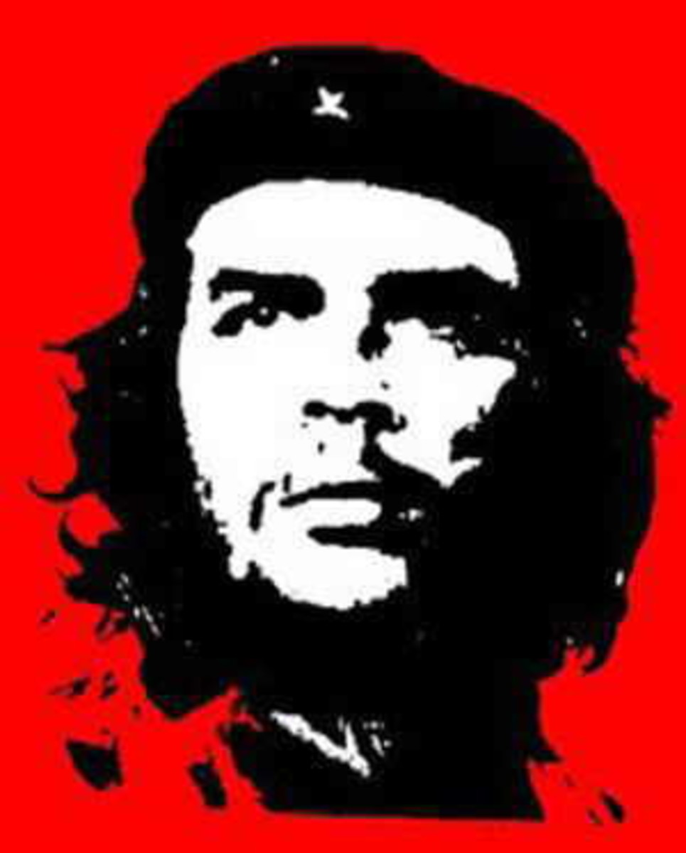Che Guevara was inspired by communism. Originally he worked alongside Fidel Castro until he broke off to lead revolutions in Central and South America. His life ended in tragedy as his corps was paraded like a hunter displays a trophy kill.
