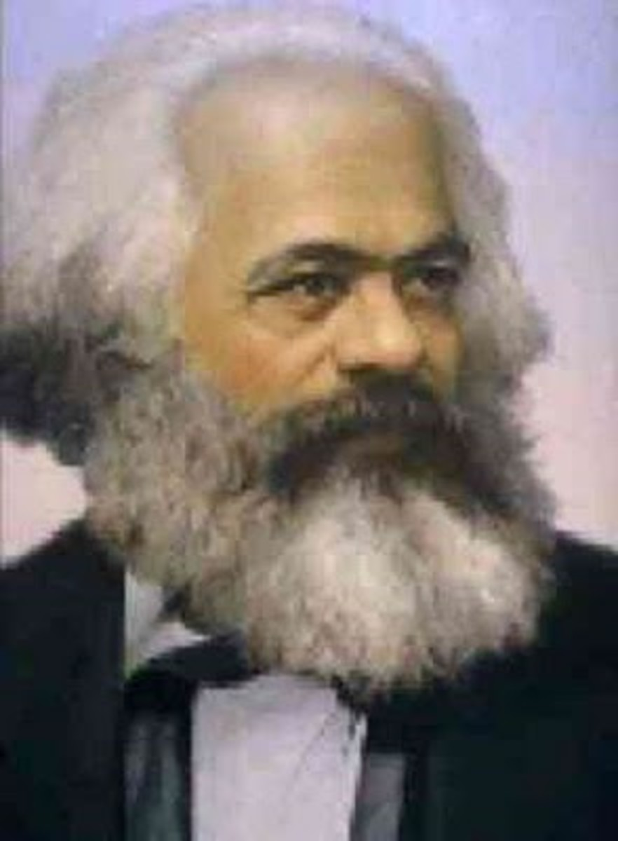 Karl Marx is considered the father of modern communism, but he derived his ideas from Hegel, whom he claimed to have stood on his head, from Adam Smith, French thinkers, and even the social contract in the Bible. His unique vision as a bourgeois thin