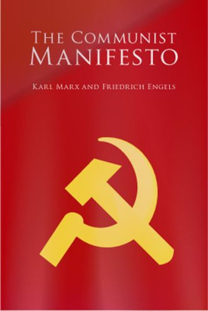 This is a cover of a more contemporary English translation of the Communist Manifesto.
