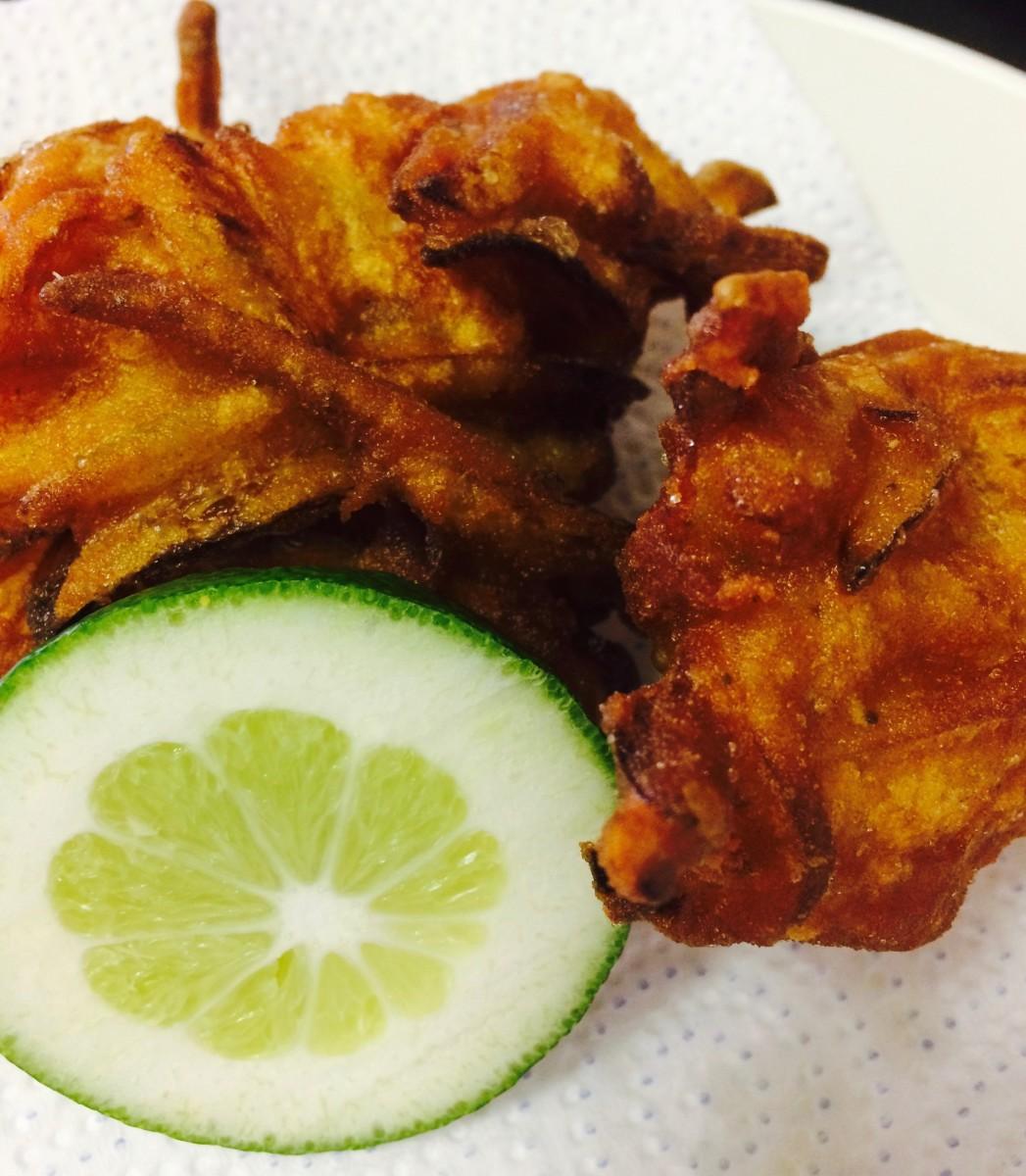 Homemade Onion Bahjis