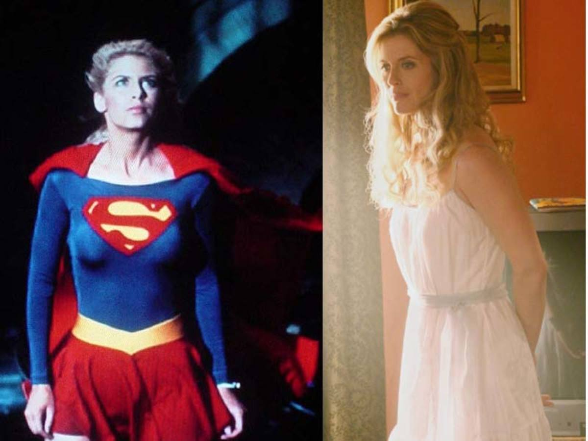 Helen Slater was Supergirl on the big screen.  She played Clark's biological mother on Smallville