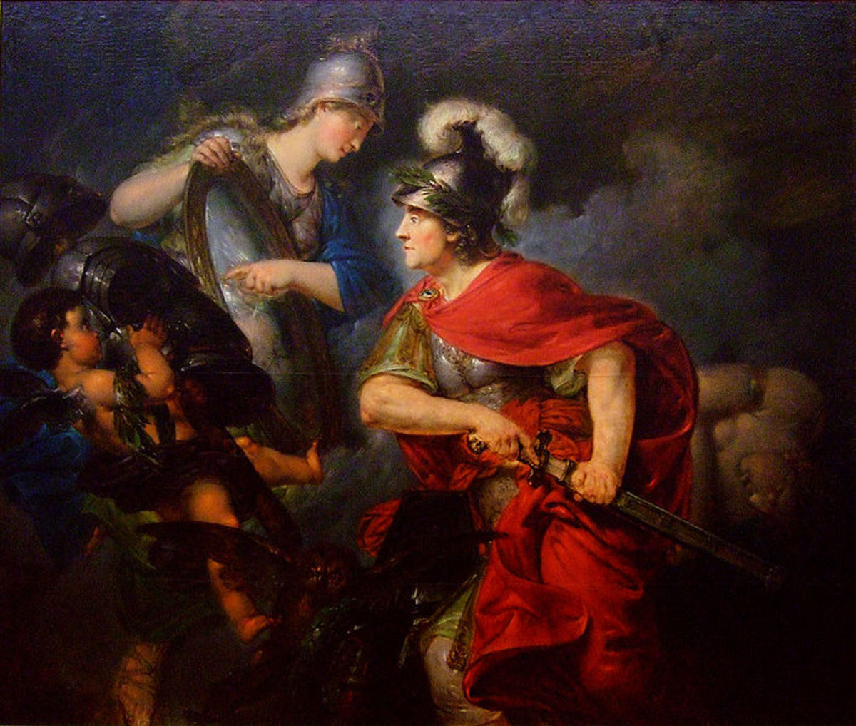 Christian Bernhardt Rode: Frederick the Great as Perseus (Allegory on the beginning of the Seven Years' War 1756), oil on canvas, 1789