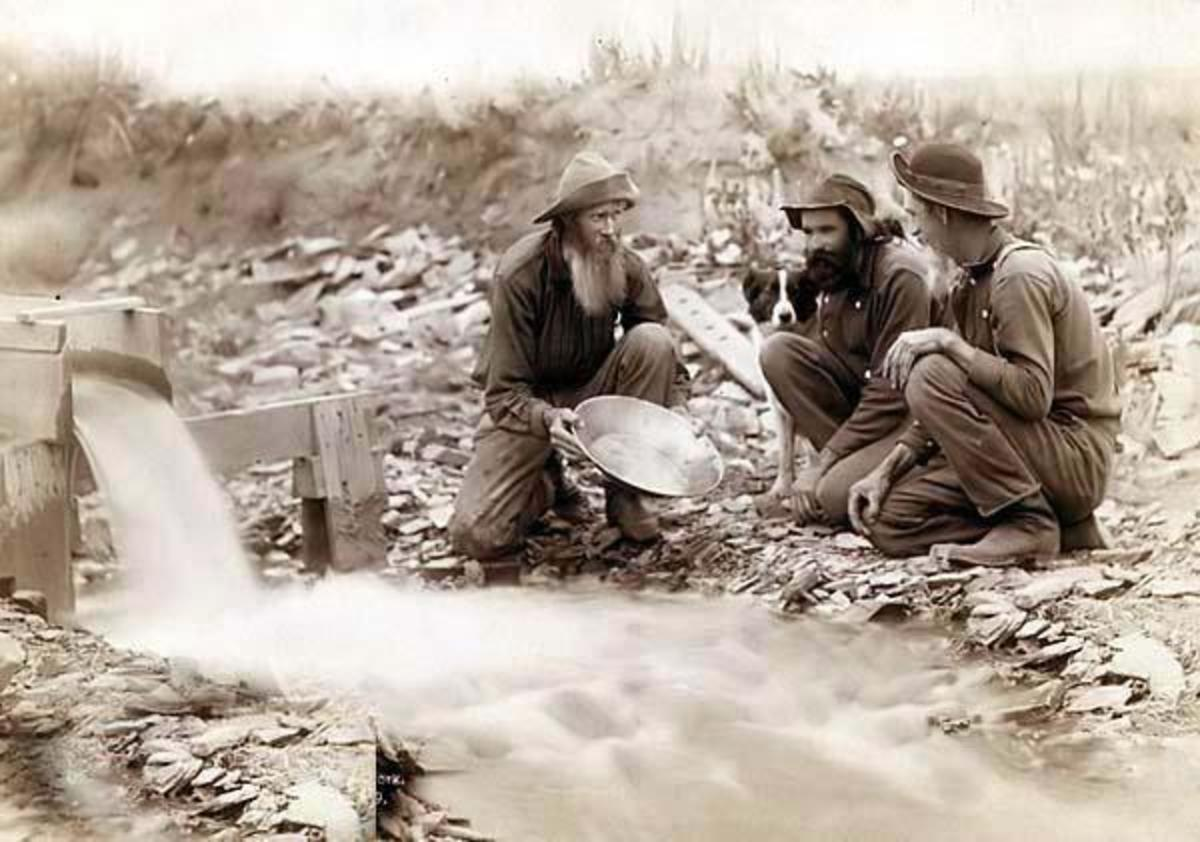 Gold panning in the Dakota Territory