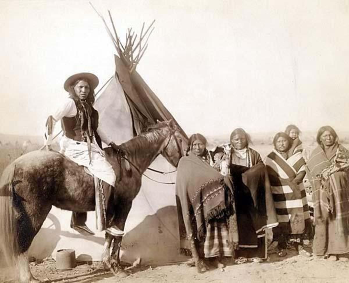 Lakota Sioux Indian Camp