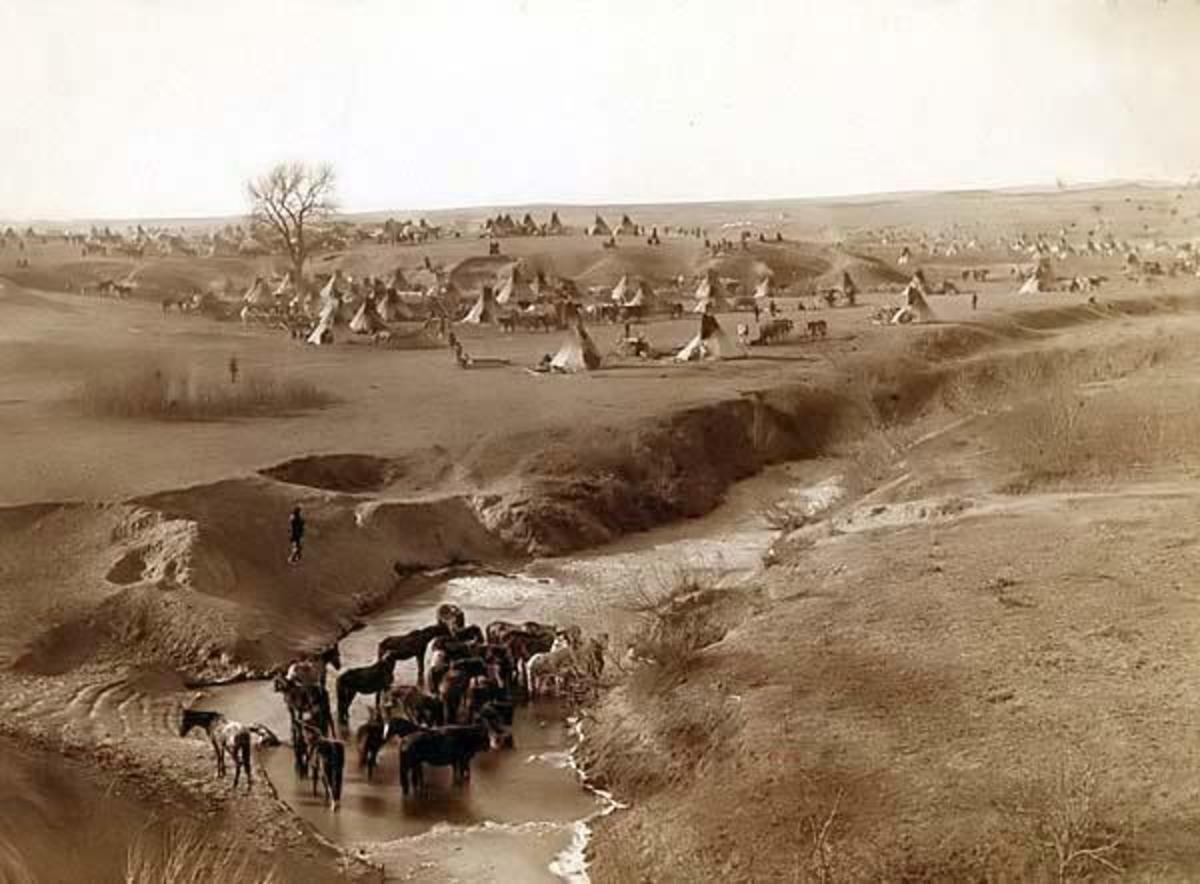 Village of Lakota Sioux Indians