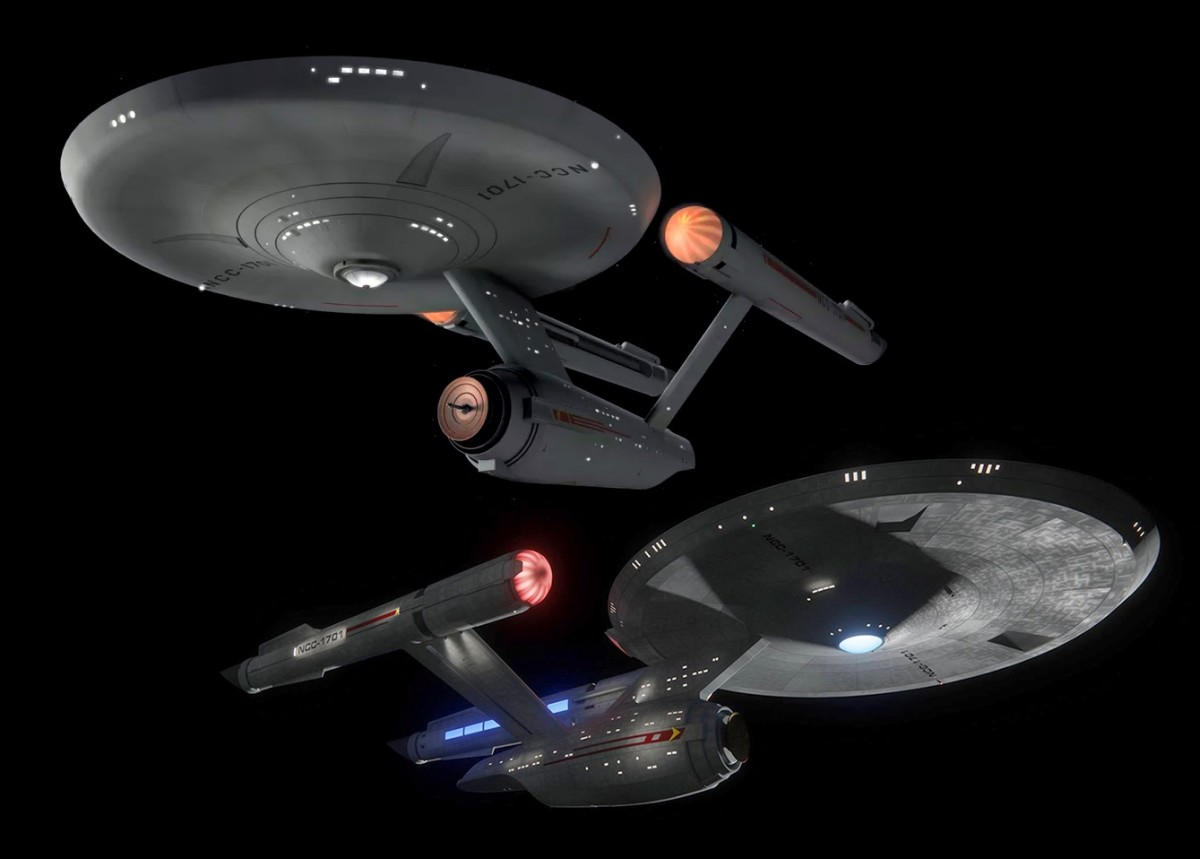 The Old & New Enterprise, Classic & Re-Imagined U.S.S. Enterprise!!!