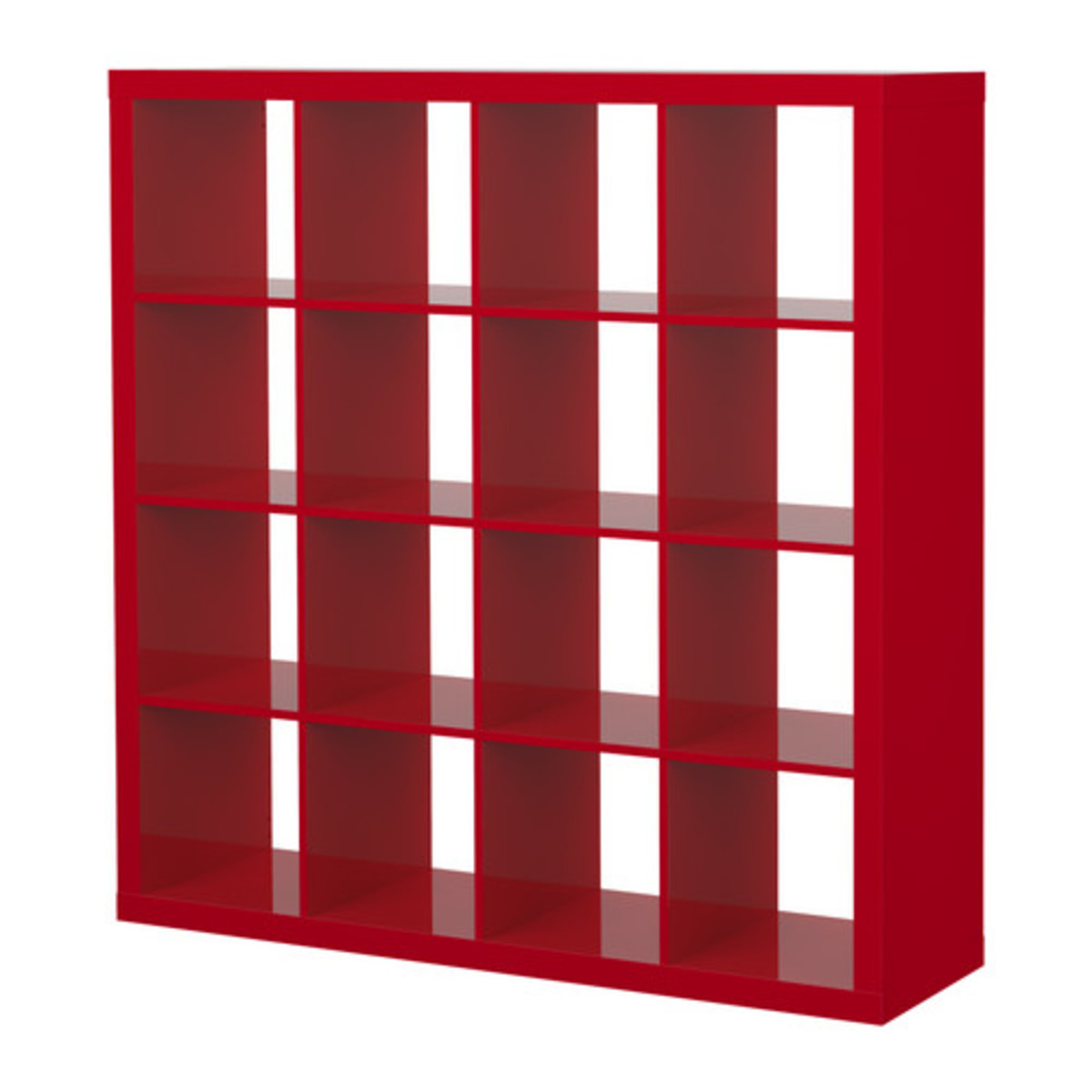 This large bright shelving unit can subdivide a room into sleeping and study while still letting light through.