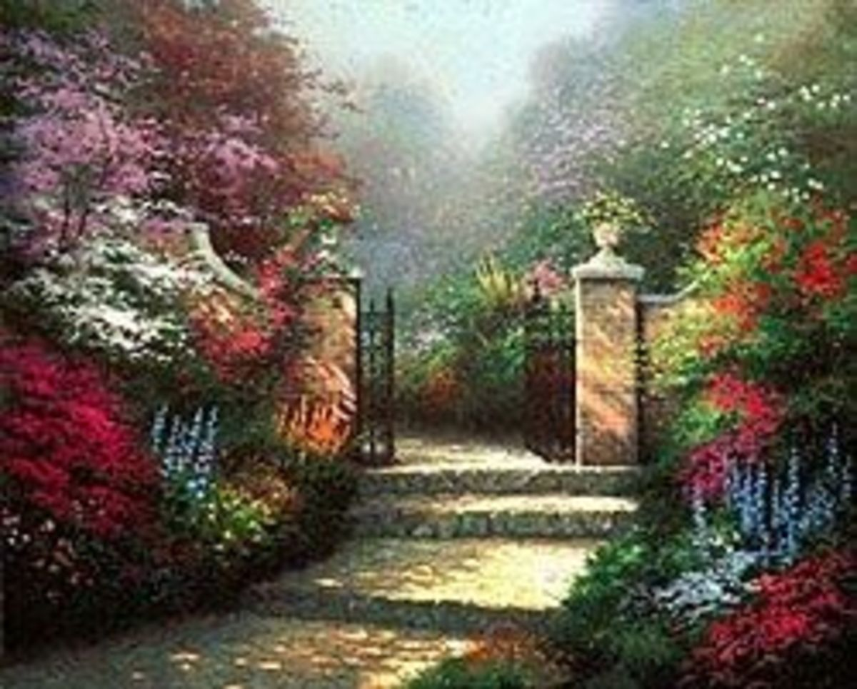 Customers can own their own proofs of the Kinkade Garden Gate. What a beautiful gift as a reminder of God's Heaven.