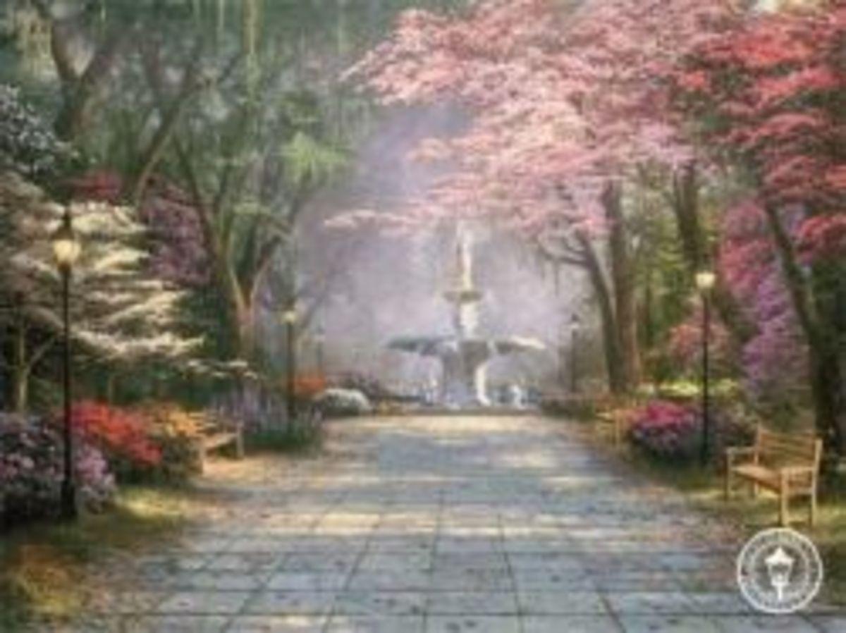Thomas Kinkade Gardens and Fountains