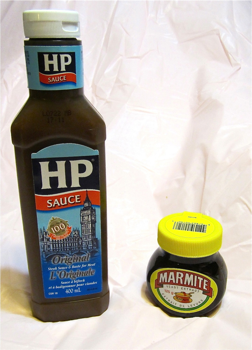 HP sauce and marmite - great for chip butties!