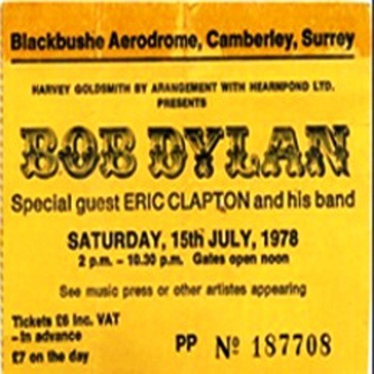 Although this is a ticket stub and not a complete ticket, it still has value - especially with the artist being Bob Dylan.