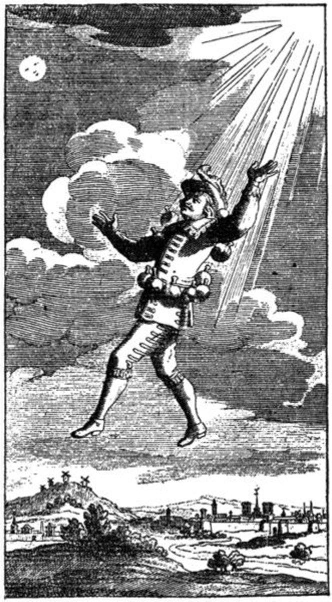 Cyrano ascends via the magic of dew.