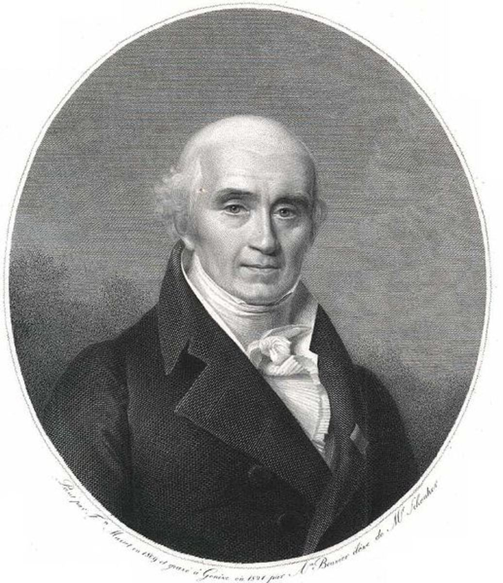 Marc-August Pictet, from an engraving by Firmin Massot.  Image courtesy Wikipedia.
