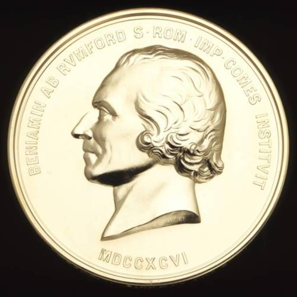 A modern Rumford medal.