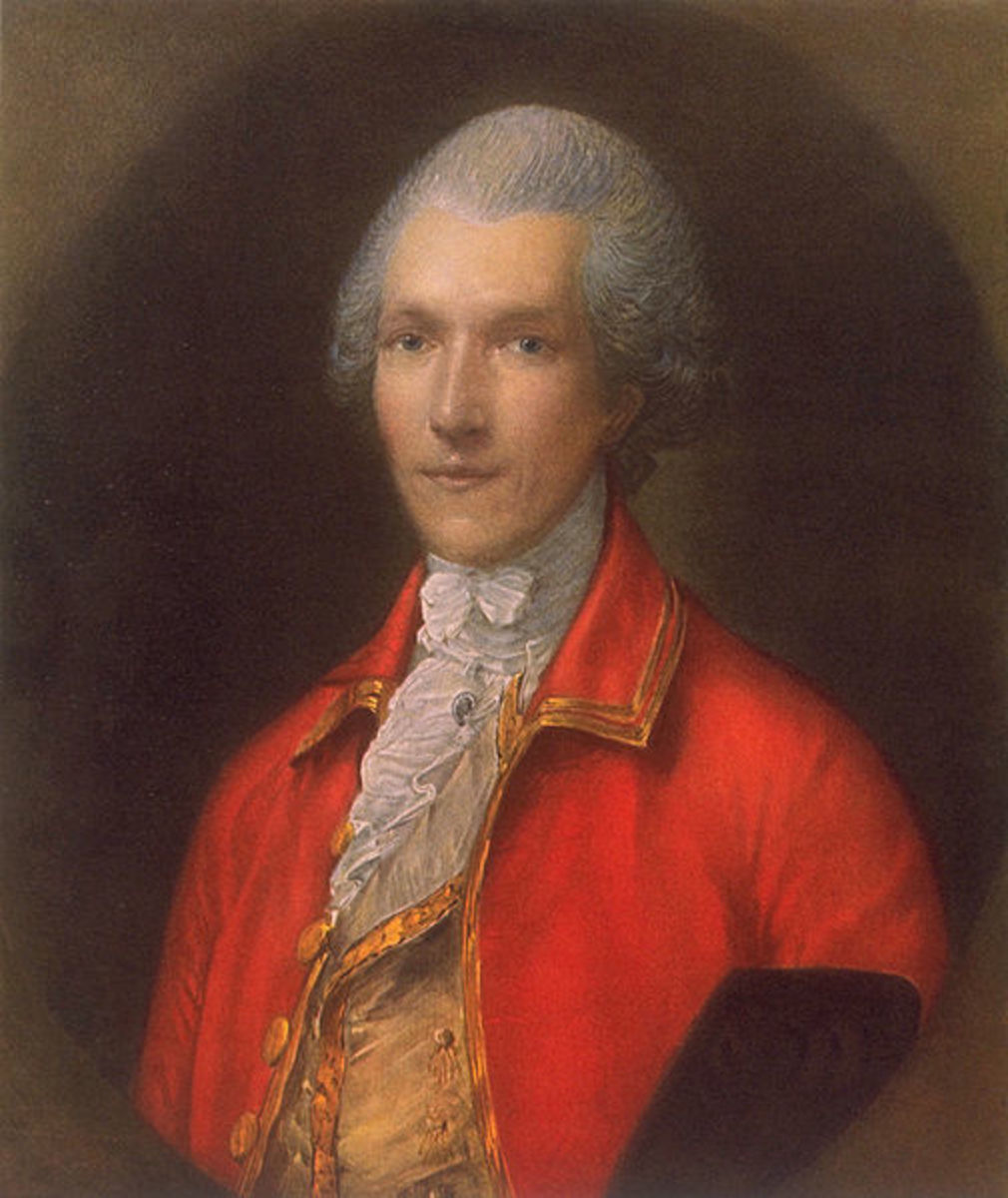 Gainsborough's portrait of Count Rumford, 1783.  Image courtesy Wikimedia Commons.