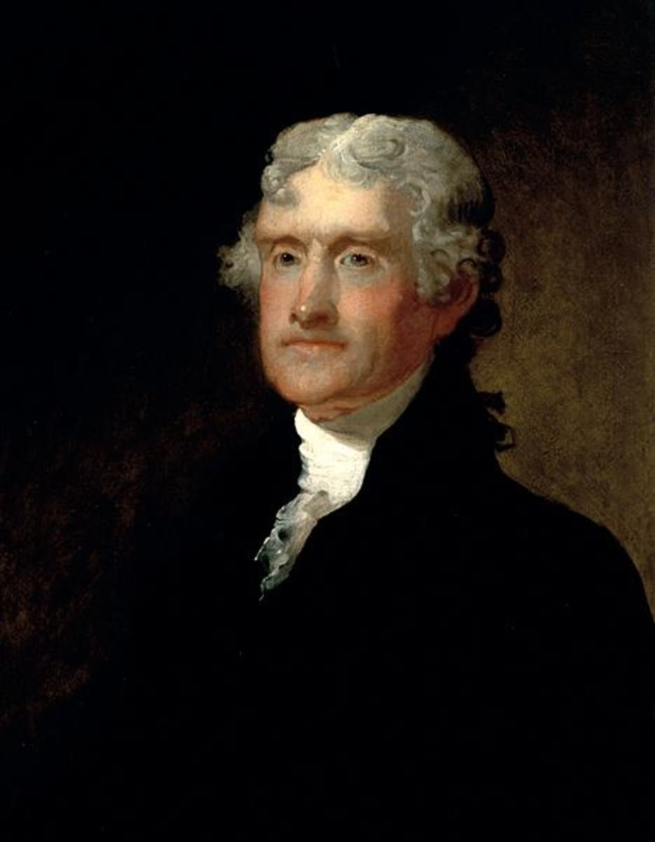 Thomas Jefferson, as painted by Matthes Harris Jouett.  Image courtesy Wikimedia Commons.