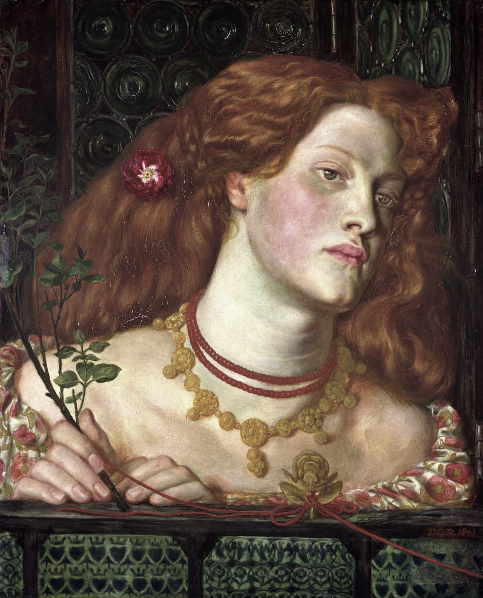 The finished painting by Rossetti ...