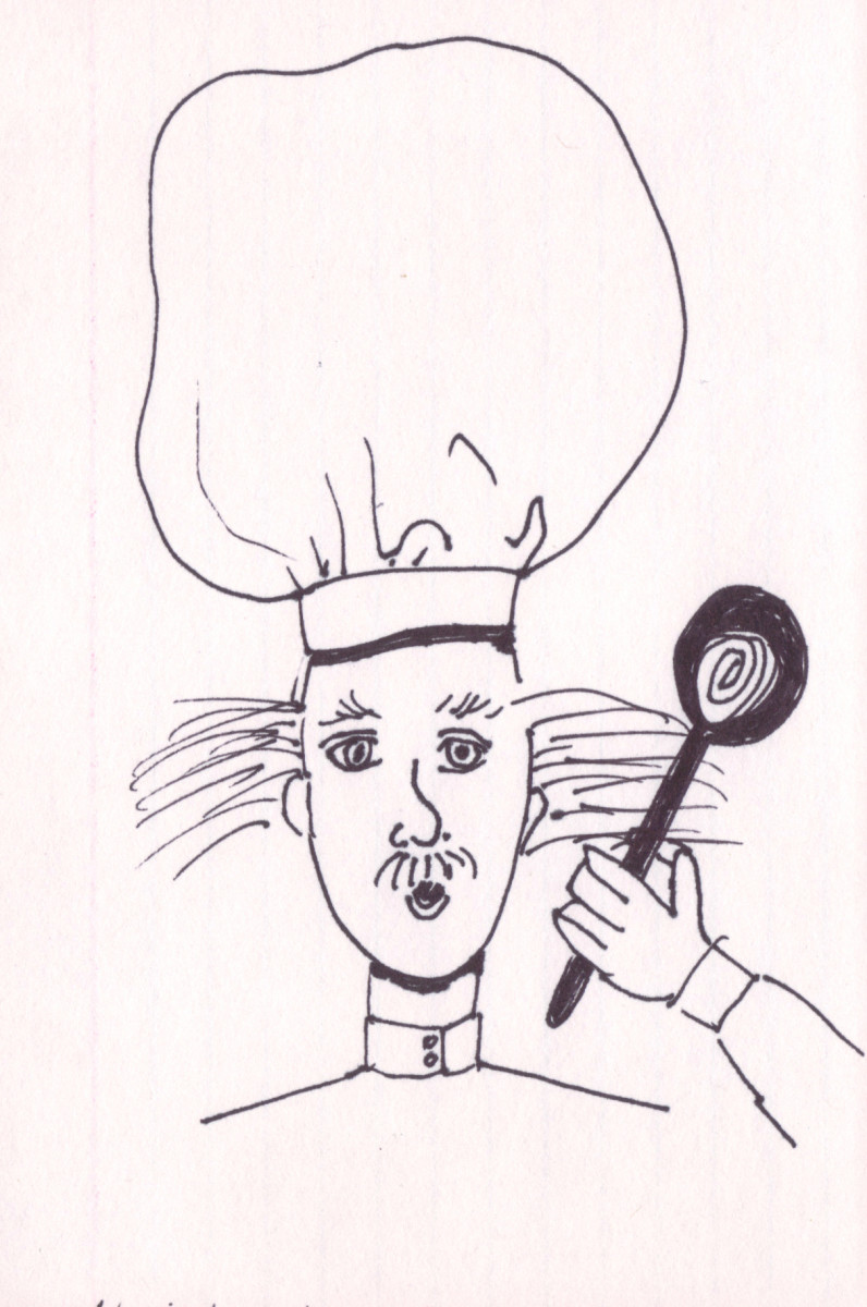 Chef with spoon.